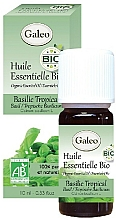 Parfumuri și produse cosmetice Ulei esențial organic de busuioc tropical - Galeo Organic Essential Oil Basilic Tropical