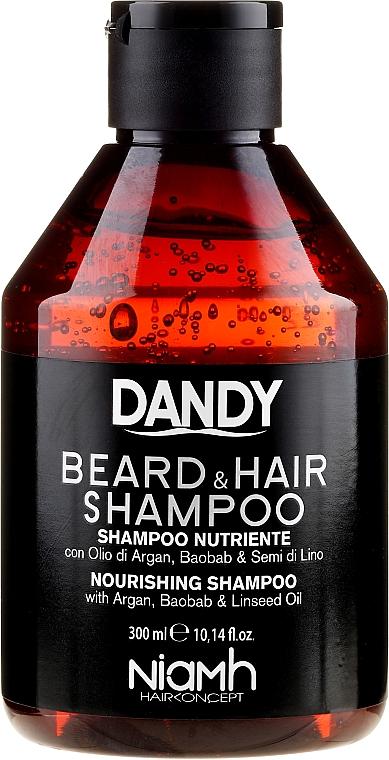 Șampon pentru păr și barbă - Niamh Hairconcept Dandy Beard & Hair Shampoo — Imagine N1