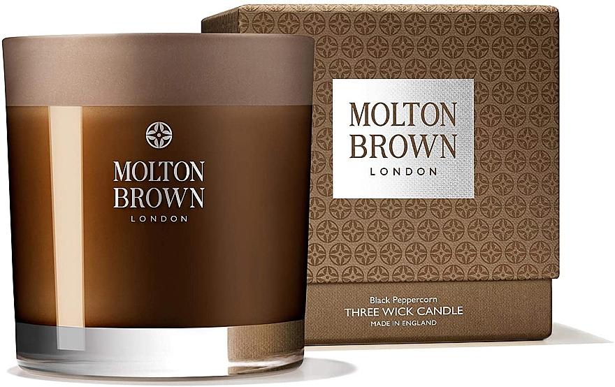 Molton Brown Black Peppercorn Three Wick Candle - Lumânare aromată, 3 fitile — Imagine N1