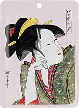Parfumuri și produse cosmetice Mască de țesut cu extract de camelie și matcha - Mitomo Camellia Flower Oil & Matcha Essence Mask