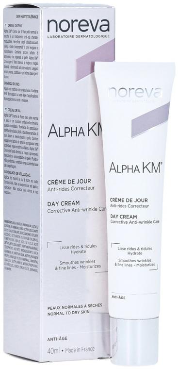 Cremă de Cremă anti-îmbătrânire pentru pielea normală și uscată - Noreva Laboratoires Alpha KM Day Cream — Imagine N1