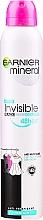 "Parfumuri și produse cosmetice Deodorant spray ""Protecție împotriva petelor"" - Garnier Mineral Deodorant Invisible"