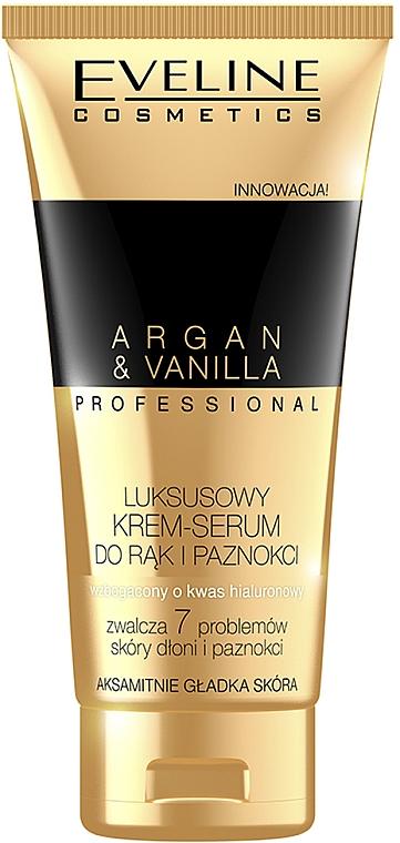 Cremă-ser pentru mâini și unghii - Eveline Cosmetics Spa Professional Argan&Vanilla