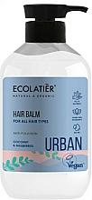 """Parfumuri și produse cosmetice Balsam-clătitor pentru toate tipurile de păr """"Cocos și Dud"""" - Ecolatier Urban Hair Balm"""