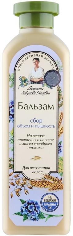 "Balsam ""Volum și frumusețe"" - Reţete bunicii Agafia"