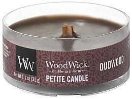 Parfumuri și produse cosmetice Lumânare aromată în suport de sticlă - Woodwick Petite Candle Oudwood