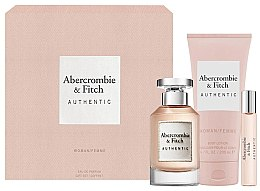 Parfumuri și produse cosmetice Abercrombie & Fitch Authentic - Set (edp/100ml + b/lot/200ml + edp/15ml)
