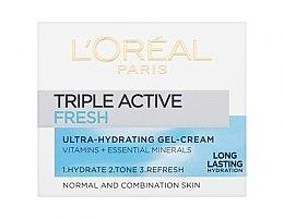 Gel cremă pentru piele normală și mixtă - L'Oreal Paris Triple Active Day — Imagine N1