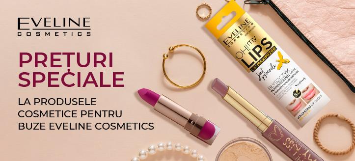 Reducere la gama promoțională Eveline Cosmetics. Prețurile de pe site sunt indicate cu reduceri