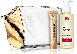 Parfumuri și produse cosmetice Set - Dermacol Dermacol 3D Hyaluron Therapy (clean/oil/150ml + foundation/30g + bag)