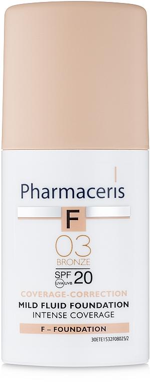 Fond de ten delicat SPF 20 - Pharmaceris F Intense Coverage Mild Fluid Foundation SPF20