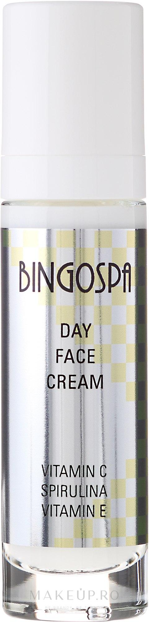 Cremă de zi pentru față - BingoSpa Day Fce Cream Vitamin C Spirulina Vitamin E — Imagine 50 g