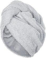 Parfumuri și produse cosmetice Prosop-turban pentru uscarea părului, gri - MakeUp