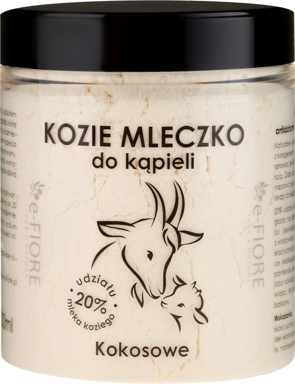"""Lapte de baie pe bază de lapte de capră """"Cocos"""" - E-Fiore Coconut Bath Milk"""