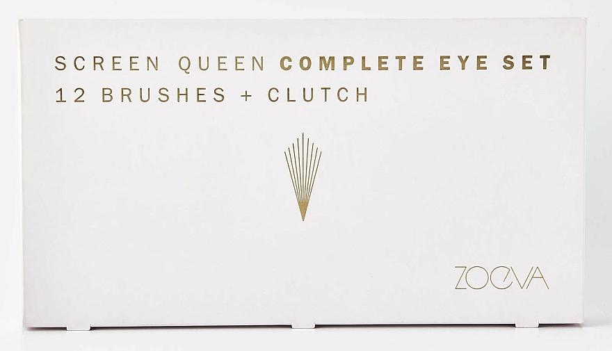 Set pensule pentru machiaj - Zoeva Screen Queen Complete Eye Brush Set (12 brushes + clutch) — Imagine N7