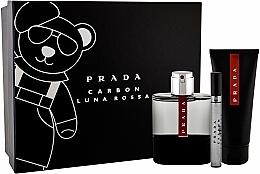 Parfumuri și produse cosmetice Prada Luna Rossa Carbon - Set (edt/100ml + sh/gel/100ml + edt/10ml)