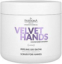 Parfumuri și produse cosmetice Scrub de mâini cu aromă de crini și liliac - Farmona Professional Velevet Hands Scrub For Hands