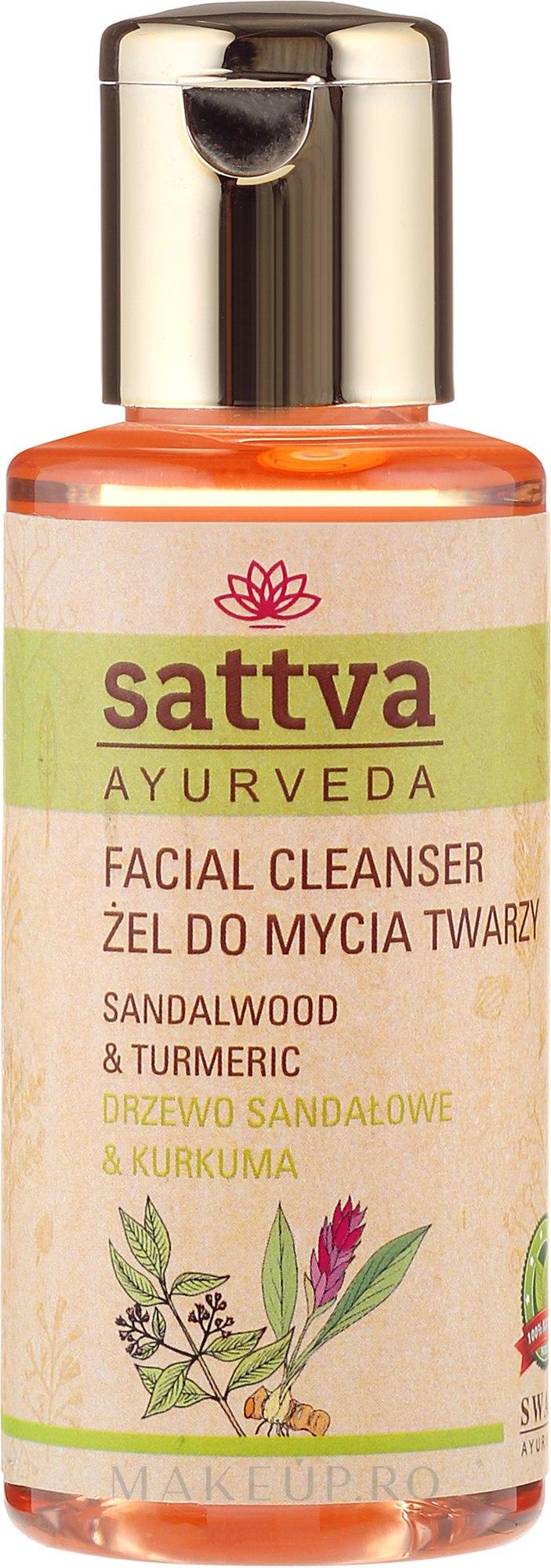 Gel de curățare pentru față - Sattva Facial Cleanser Sandalwood — Imagine 100 ml