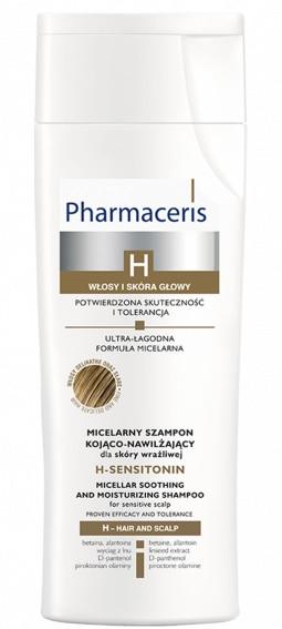 Șampon calmant pentru scalpul sensibil - Pharmaceris H-Sensitonin Micellar Soothing and Moisturizing Shampoo — Imagine N1