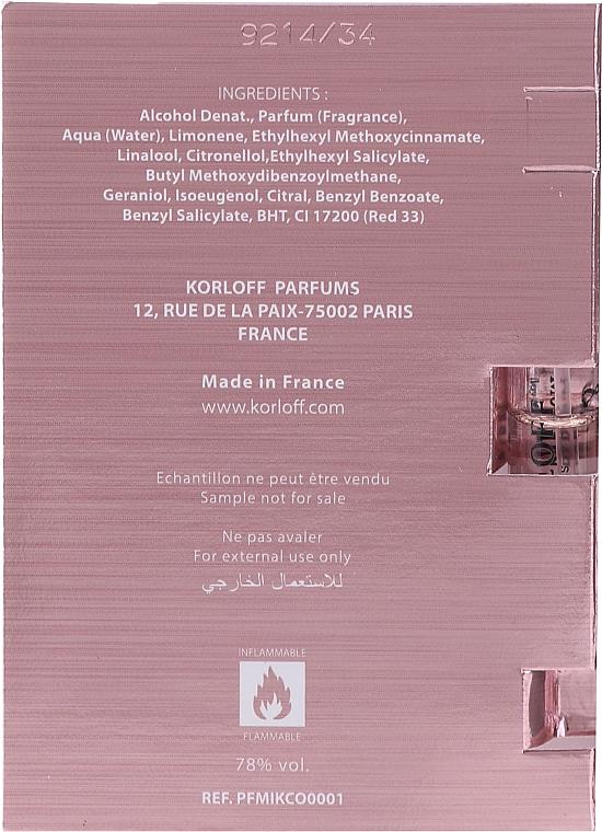 Korloff Paris Miss - Apă de parfum (tester) — Imagine N3