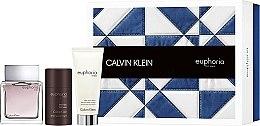 Parfumuri și produse cosmetice Calvin Klein Euphoria Men - Set (edt 100ml + a/sh/b 100ml + deo-stik 75ml)