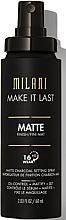 Parfumuri și produse cosmetice Primer-spray pentru față - Milani Make It Last Matte Charcoal Setting Spray