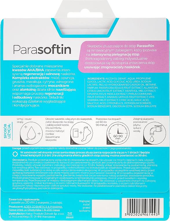 Peeling pentru picioare - Parasoftin Exfoliating Foot Treatment Socks — Imagine N2