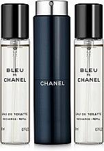 Parfumuri și produse cosmetice Chanel Bleu de Chanel - Apă de toaletă (edt/20ml + refilles/2x20ml)
