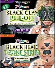 Parfumuri și produse cosmetice Mască pe bază de argilă neagră pentru nas și bărbie - 7th Heaven Charcoal Duo Black Clay Peel Off
