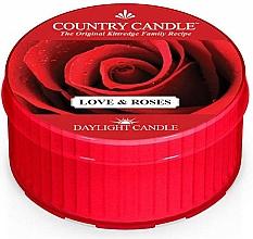 "Parfumuri și produse cosmetice Lumânare de ceai ""Dragoste și trandafiri"" - Country Candle Love & Roses Daylight"