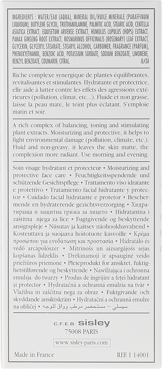 Emulsie hidratantă cu efect regenerator - Sisley Emulsion Ecologique Ecological Compound — Imagine N3