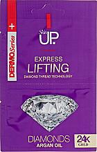 Parfumuri și produse cosmetice Mască-lifting cu 24K aur și diamante pentru față - Verona Laboratories DermoSerier Skin Up Express Lifting Diamonds 24k Gold