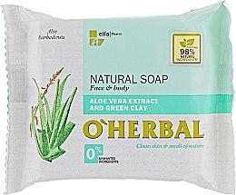 Parfumuri și produse cosmetice Săpun natural cu extract de aloe vera și argilă verde - O'Herbal Natural Soap