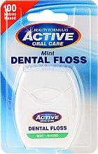 Parfumuri și produse cosmetice Ață dentară cu aromă de mentă - Beauty Formulas Active Oral Care Dental Floss Mint Waxed 100m