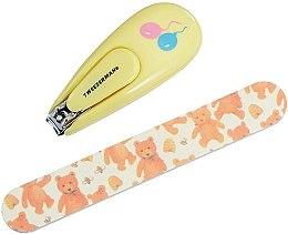 Parfumuri și produse cosmetice Unghieră cu pilă, pentru copii 3065-R - Tweezerman Baby Nail Clipper With Bear File