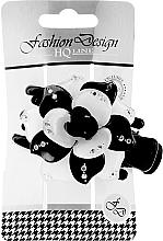 Parfumuri și produse cosmetice Clește pentru păr 24351, negru-albă - Top Choice