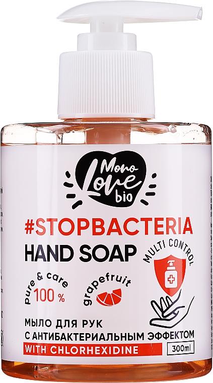 """Săpun antibacterian pentru mâini """"Grapefruit -arbore de ceai"""" - MonoLove Bio Hand Soap With Chlorhexidine — Imagine N1"""