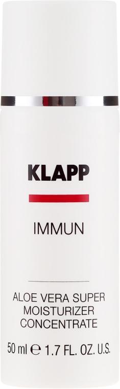 Gel cu aloe vera pentru față - Klapp Immun Aloe Vera Super Moisturizer — Imagine N2
