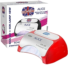 Parfumuri și produse cosmetice Lampă CCFL+LED, roșie - Ronney Professional Alice Nail CCFL+LED 48w (GY-LCL-015D) Lamp