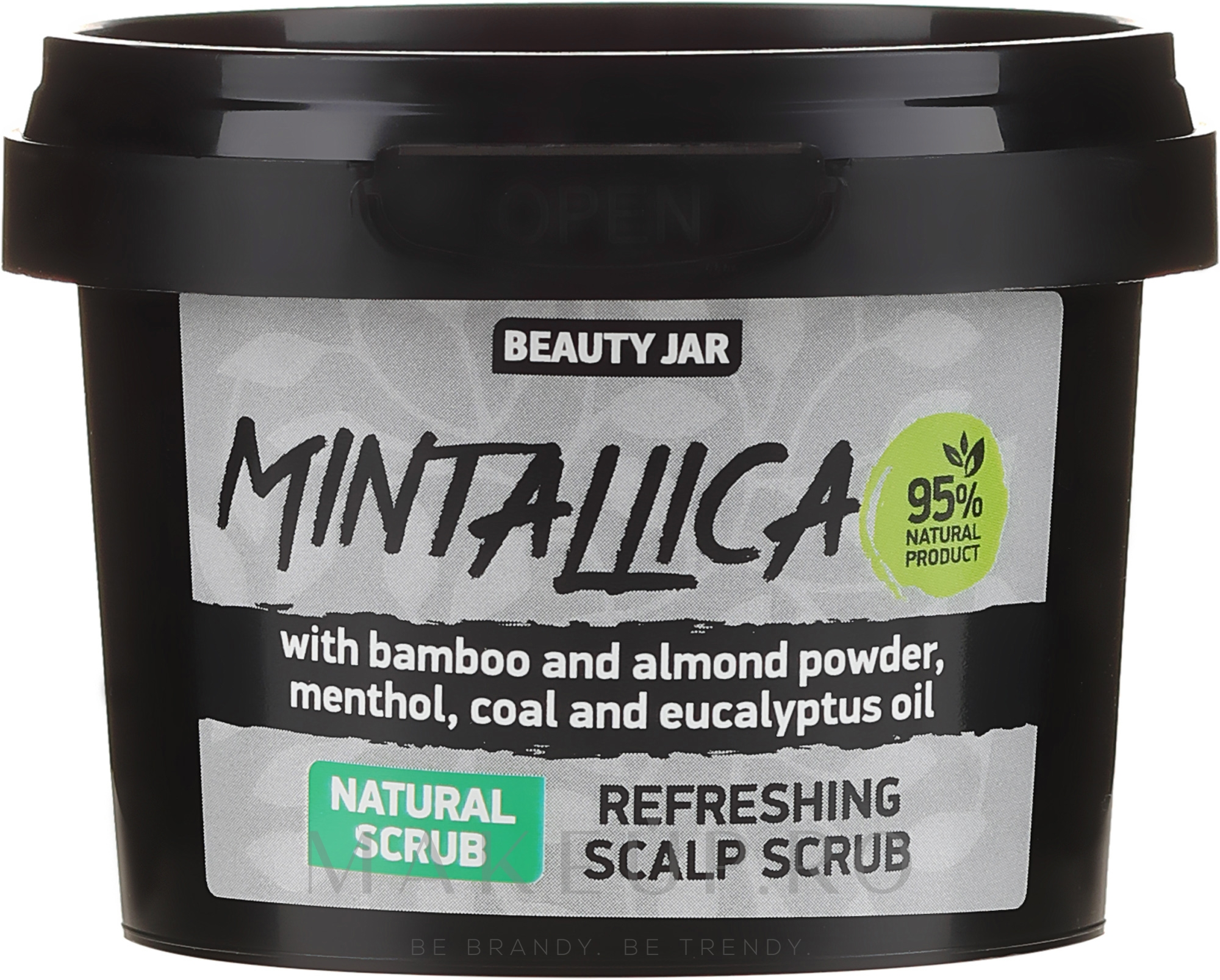Scrub revigorant pentru scalp - Beauty Jar Mintallica Refreshing Scalp Scrub — фото 100 g