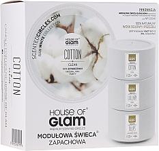 Parfumuri și produse cosmetice Lumânare aromată - House of Glam Calmig Clean Cotton Candle