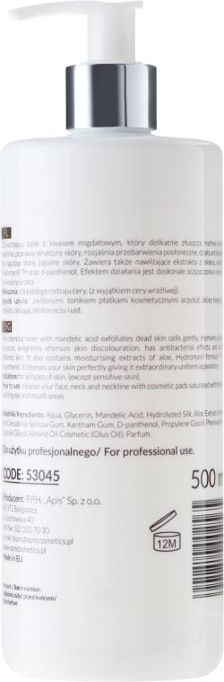 Tonic pentru față cu acid de migdale - Apis Professional Cleansing Hydrogel Toner With Mandelic Acid — Imagine N2