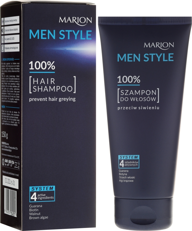 Șampon pentru bărbați - Marion Men Style Shampoo Against Greying