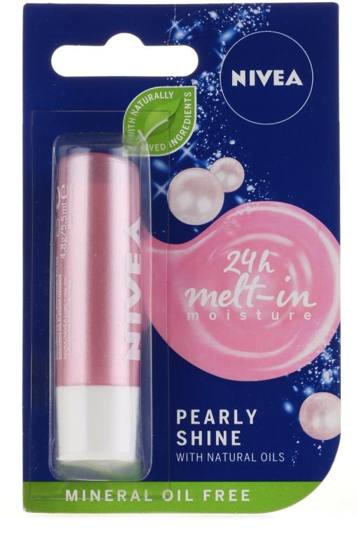 """Balsam de buze """"Strălucire perlată"""" - Nivea Lip Care Pearl & Shine Limited Edition"""