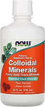 Parfumuri și produse cosmetice Minerale coloidale - Now Foods Colloidal Minerals Natural Raspberry Flavor