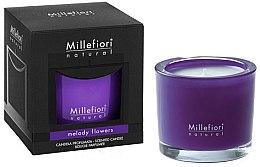 """Parfumuri și produse cosmetice Lumânare parfumată """"Melodia florilor"""" - Millefiori Milano Natural Candle Melody Flowers"""