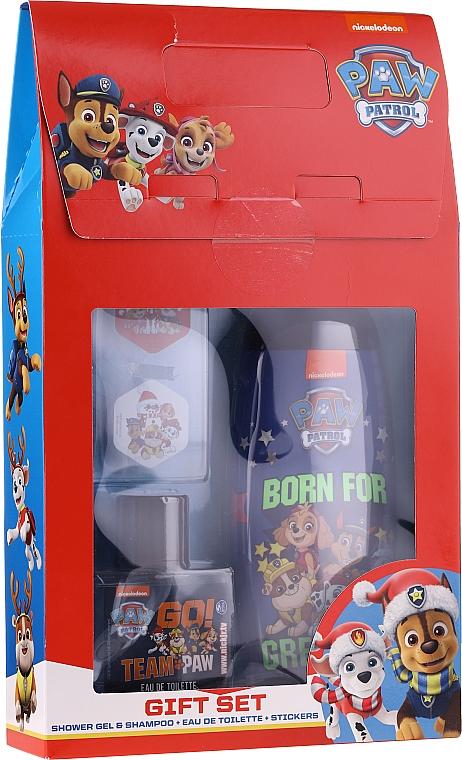 Set - Uroda For Kids Paw Patrol Red (sh/gel/250ml + edt/50ml + stickers)