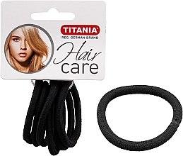 Parfumuri și produse cosmetice Elastice pentru păr, 6 buc., negre, 6 mm - Titania