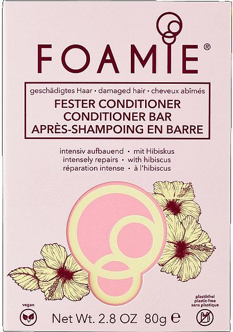 Balsam solid de păr - Foamie Hibiskiss Conditioner Bar — Imagine N1