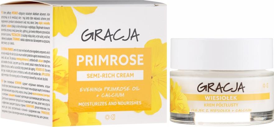 Cremă nutritivă cu ulei de primulă - Gracja Semi-oily Cream With Evening Primrose — Imagine N1